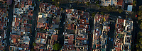 Roof tops. Aerial photographs of Mexico City