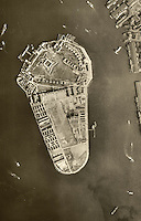 historical aerial  Governor's Island, New York City, 1943