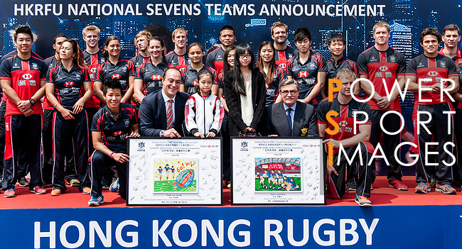 7s 2014 Team Announcement ahead of the Hong Kong Rugby Sevens at King's Park   on March 22 2014 in Hong Kong, China. Photo by Xaume Olleros / Power Sport Images