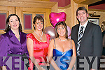VALENTINE GALA BALL: Enjoying a great night and supporting the Chernobyl Children's Project International at the Gala Valentine Ball in the Meadowlands hotel on Saturday l-r: Sharon Cahill, Norma Connelly, Mary Sugrue and Martin Hartnett...