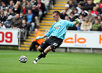 Pictured: Artur Krysiak of Swansea City in action <br /> Re: Coca Cola Championship, Swansea City Football Club v Southampton at the Liberty Stadium, Swansea, south Wales 25 October 2008.<br /> Picture by Dimitrios Legakis Photography, Swansea, 07815441513