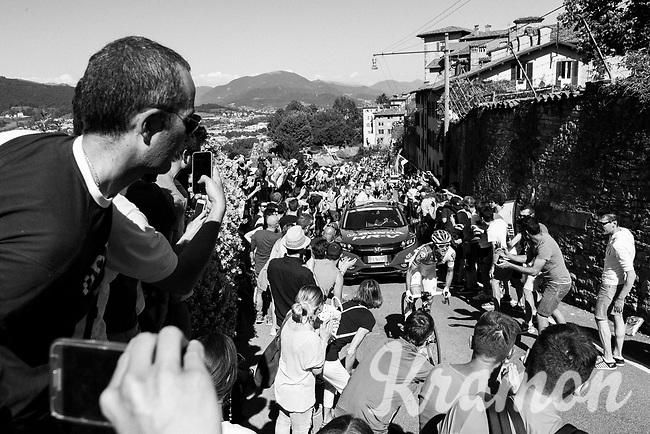 Rudy Molard (FRA/FDJ) cheered on towards the Citt&agrave; Alta in bergamo<br /> <br /> Stage 15: Valdengo &rsaquo; Bergamo (199km)<br /> 100th Giro d'Italia 2017