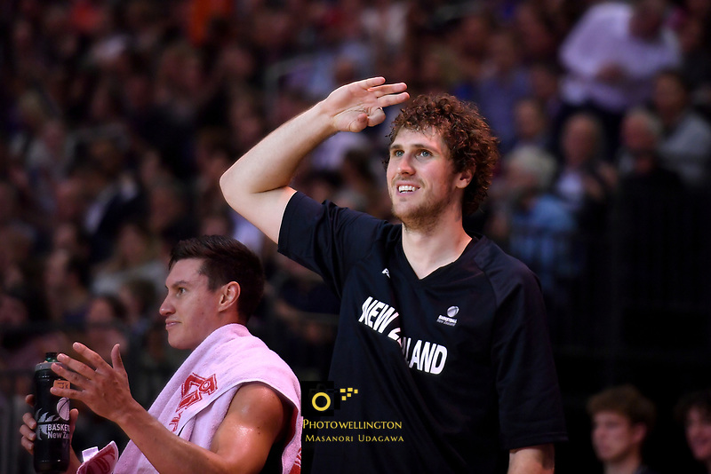 New Zealand Tall Blacks' Rob Loe in action during the FIBA World Cup Basketball Qualifier - NZ Tall Blacks v Jordan at Horncastle Arena, Christchurch, New Zealand on Thursday 29 November  2018. <br /> Photo by Masanori Udagawa. <br /> www.photowellington.photoshelter.com