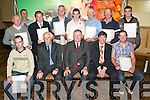 Awards: Receiving their certificates in Traditional Stonewall Construction and Welding at the 2007 FAS Certification awards ceremony at the.Brandon Conference Centre, Tralee, on Thursday night were, sitting l-r: Matthew OMeara, Newport, Tipperary, Des OHalloran (training centre.manager), Donal Kerr (regional director of FAS SW), Eddie Enright (training centre assistant manager) and Jason OSullivan, Boherbee. Standing.l-r: John Hurley, Castleisland, Denis McCarthy, Dublin, Fred Browne, Knocknagoshel, Dermot Connor, Rathorig, Tralee, Chris Enright, Ballyduff,.David Hilliard, Castlegregory, Brendan OConnor, Castlemaine, and Shane Broderick, Farranfore.