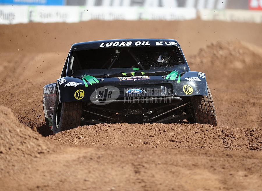 Mar. 18, 2011; Chandler, AZ, USA;  LOORRS pro 2 unlimited driver Jeremy McGrath during qualifying for round one at Firebird International Raceway. Mandatory Credit: Mark J. Rebilas-
