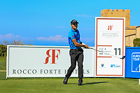 Hyden Porteous (RSA) on the 11th tee during the Pro-Am of the Rocco Forte Sicilian Open 2018 on Wednesday 4th May 2018.<br /> Picture:  Thos Caffrey / www.golffile.ie<br /> <br /> All photo usage must carry mandatory copyright credit (&copy; Golffile | Thos Caffrey)