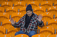 Wycombe Wanderers supporters during the The Checkatrade Trophy match between Blackpool and Wycombe Wanderers at Bloomfield Road, Blackpool, England on 10 January 2017. Photo by Andy Rowland / PRiME Media Images.