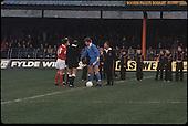 22/11/80 Blackpool v Fleetwood Town FAC 1.22/11/80 Blackpool v Fleetwood Town FAC 1.Captains Jackie Ashurst (Blackpool) and counterpart shake hands prior to kick off.©  Phill Heywood.©  Phill Heywood