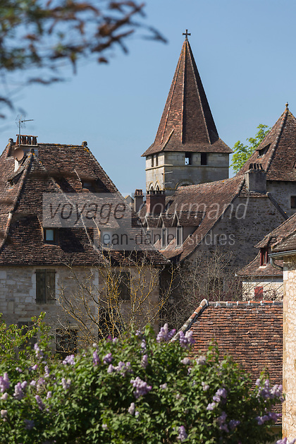 France, Lot, Haut-Quercy, Vallée de la Dordogne, Carennac, labellisé  Les Plus Beaux Villages de France ,  // France, Lot, Haut Quercy, Dordogne Valley, Carennac, labelled Les Plus Beaux Villages de France (The Most Beautiful Villages of France)