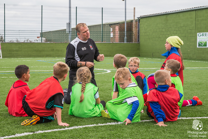 Day 2 of the EBFC Soccer School for 6-11 year old Wednesday 25 October 2017 Eastbourne Borough FC Youth Development Photo by Jane Stokes (DJ Stotty Images)