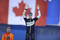 SPEEDSKATING: CALGARY: 15-11-2015, Olympic Oval, ISU World Cup, Podium Mass Start Men, Bart Swings (BEL), ©foto Martin de Jong