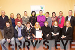 Staff from North East Kerry Development were awarded their certificates in People Management training from Hr & Business Solutions. From front l-r were: Sean Falvey, Eugene Glover, Hazel O'Malley, Geraldine Kelly, Joanne O'Sullivan, Aine Stack and Susan Kelly (HR & Business Solutions). Back l-r were: Bernard Collins, Jennifer O'Sullivan Coffey, Tina Moriarty, Elaine Kennedy, Helena Houlihan, Mikey Crean, Kay Daly, Caroline McEnery (HR & Business Solutions), Caroline O'Leary and Eamonn O'Reilly.