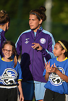 Kansas City, MO - Saturday May 28, 2016: Orlando Pride forward Sarah Hagen (8). FC Kansas City defeated Orlando Pride 2-0 during a regular season National Women's Soccer League (NWSL) match at Swope Soccer Village.