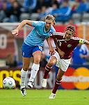 Chantal de Ridder, Trine Pedersen,  Women's EURO 2009 in Finland.Denmark-Netherlands, 08292009, Lahti Stadium