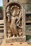 Carved stone figure, The Quadrangle, UNESCO World Heritage Site, the ancient city of Polonnaruwa, Sri Lanka, Asia