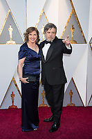 Mark Hamill and Marilou York arrives on the red carpet of The 90th Oscars&reg; at the Dolby&reg; Theatre in Hollywood, CA on Sunday, March 4, 2018.<br /> *Editorial Use Only*<br /> CAP/PLF/AMPAS<br /> Supplied by Capital Pictures