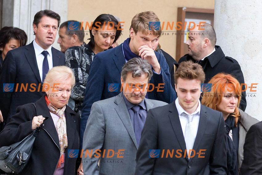 Yannick Agnel <br /> Nizza 25-03-2015 Chiesa St Jean <br /> Funerali Camille Muffat <br /> Foto NICOLAS GAVET / PANORAMIC / Insidefoto