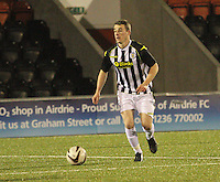 Adam Brown in the St Mirren v Dunfermline Athletic Scottish Professional Football League Under 20 match played at the Excelsior Stadium, Airdrie on 11.12.13.