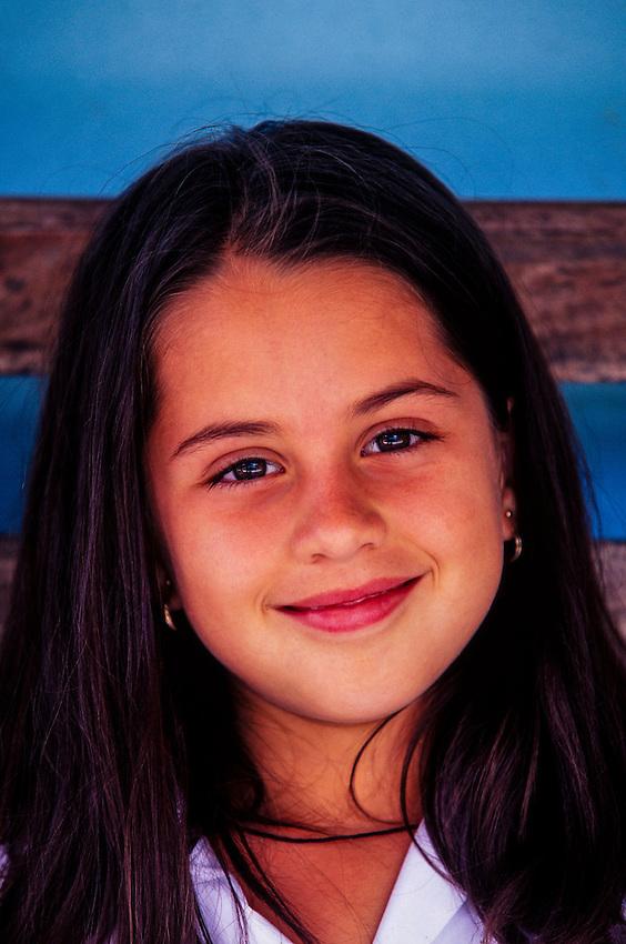 School girl, near Lake Arenal (Laguna de Arenal), Costa Rica