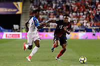 Harrison, NJ - Friday July 07, 2017: Félix Crisanto, Rodney Wallace during a 2017 CONCACAF Gold Cup Group A match between the men's national teams of Honduras (HON) vs Costa Rica (CRC) at Red Bull Arena.