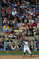 Ichiro Suzuki of Japan during a game against the United States at the World Baseball Classic at Dodger Stadium on March 22, 2009 in Los Angeles, California. (Larry Goren/Four Seam Images)