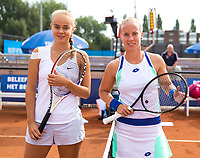 Amstelveen, Netherlands, 1 August 2020, NTC, National Tennis Center, National Tennis Championships,  Womans Final Bente Spee (NED) (L) vs Richel Hogenkamp (NED)<br /> Photo: Henk Koster/tennisimages.com