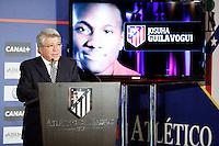 Enrique Cerezo during Josuha Guilavogui´s official presentation as an Atletico de Madrid´s new football player in Vicente Calderon Stadium, Madrid. September 13, 2013. (ALTERPHOTOS/Victor Blanco)