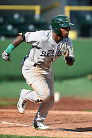 Beloit Snappers outfielder B.J. Boyd (23) runs to first during a game against the Clinton LumberKings on August 17, 2014 at Ashford University Field in Clinton, Iowa.  Clinton defeated Beloit 4-3.  (Mike Janes/Four Seam Images)