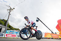 Picture by Alex Whitehead/SWpix.com - 10/04/2018 - Commonwealth Games - Road Cycling - Currumbin Beachfront, Gold Coast, Australia - Bronze - England's Hayley Simmonds, Women's Individual Time Trial.
