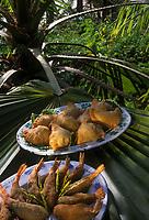 Afrique/Afrique de l'Ouest/Sénégal/Basse-Casamance : Pastels de viande ou de poisson et crevettes farcies