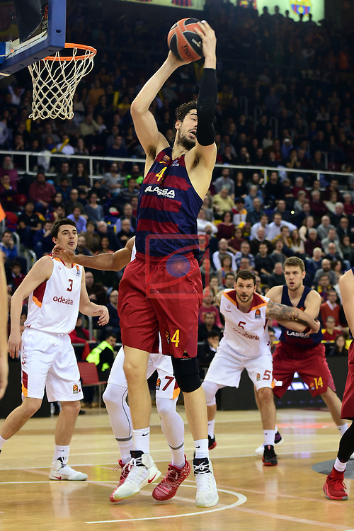 Turkish Airlines Euroleague 2016/2017.<br /> Regular Season - Round 22.<br /> FC Barcelona Lassa vs Galatasaray Odeabank Istanbul: 62-69.<br /> Ante Tomic.