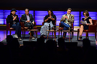 WASHINGTON, DC - JUNE 8: Michael Bonfiglio, Carl Pope, Misti O'Quinn, Brandon Dennison and Susan Goldberg attends an advanced screening panel discussion of 'From the Ashes' presented by National Geographic and Bloomberg Philanthropies at National Geographic Headquarters on June 8, 2017 in Washington, DC. (Photo by Don Baxter/National Geographic/PictureGroup)
