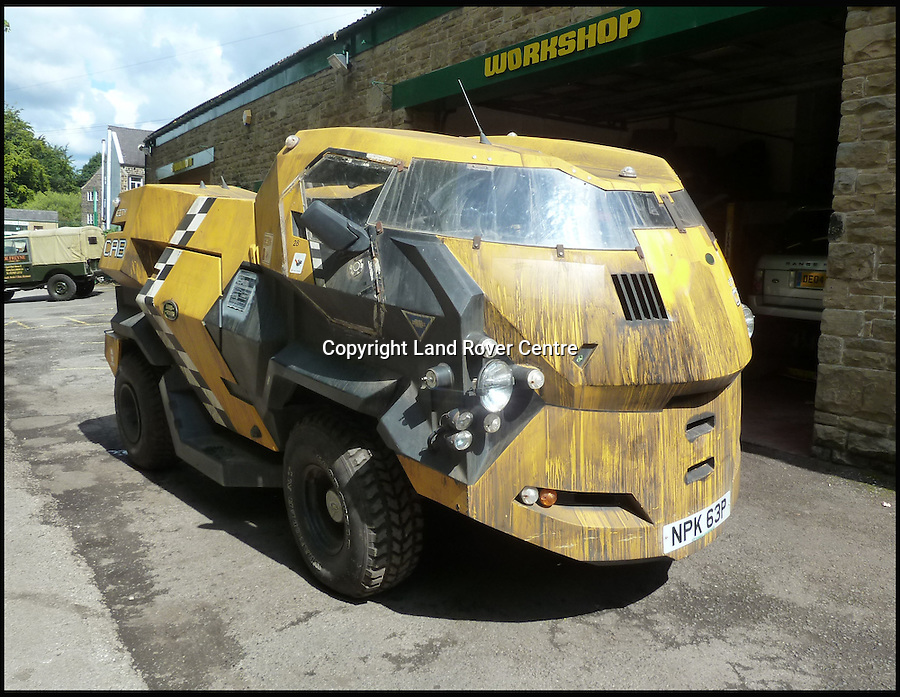 BNPS.co.uk (01202 558833)<br /> Pic: LandRoverCentre/BNPS<br /> <br /> An iconic futuristic-looking Land Rover created for the film Judge Dredd is set to sell for &pound;30,000.<br /> <br /> The quirky yellow car was built as a prop rather than a concept car and has poor visibility, doesn't have proper ventilation and only seats a driver.<br /> <br /> It was one of 30 made especially for the movie, but while most were converted back to their old form after filming a handful were made road-worthy. <br /> <br /> This car was one of two which appeared at the film's UK premiere and had to be extensively modified to get it through an MoT so it could be parked outside the cinema.<br /> <br /> It has been privately owned since 1998 and mostly kept in a shed for the last 17 years.