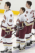 Brian Boyle, Nathan Gerbe, Brett Motherwell - The Boston College Eagles completed a shutout sweep of the University of Vermont Catamounts on Saturday, January 21, 2006 by defeating Vermont 3-0 at Conte Forum in Chestnut Hill, MA.