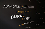 """The Broadway Opening Celebration for Landford Wilson's """"Burn This""""  at Hudson Theatre on April 15, 2019 in New York City."""