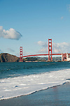 Baker Beach, Golden Gate Bridge, San Francisco, California, USA.  Photo copyright Lee Foster.  Photo # california108636