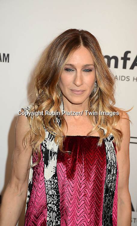 Sarah Jessica Parker in Maison Martin Margella attends the amfAR New York Gala to kick off Fashion Week on February 6, 2013 at Cipriani Wall Streetin New York City. The honorees were Heidi Klum, Janet Jackson  and Kenneth Cole.