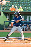 Mitch Ghelfi (13) of the Helena Brewers at bat against the Ogden Raptors in Pioneer League action at Lindquist Field on August 17, 2015 in Ogden, Utah. Ogden defeated Helena 7-2.  (Stephen Smith/Four Seam Images)