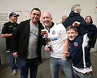 Bolton Wanderers fans gather in the stands before the kick-off<br /> <br /> Photographer Stephen White/CameraSport<br /> <br /> The EFL Sky Bet League One - Port Vale v Bolton Wanderers  - Saturday 22nd April 2017 - Vale Park - Burslem<br /> <br /> World Copyright &copy; 2017 CameraSport. All rights reserved. 43 Linden Ave. Countesthorpe. Leicester. England. LE8 5PG - Tel: +44 (0) 116 277 4147 - admin@camerasport.com - www.camerasport.com