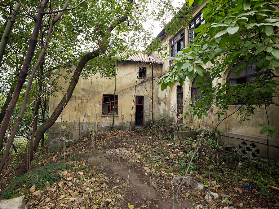 Former Residence In Chongqing (Chungking).  Entrance to Servants' Quarters & Storage Area.