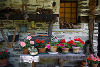 Traditional stone farm house, Brione, Val Verzasca, Tocino, Swiss alps