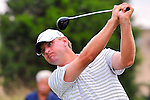 27 August 2009: 2009 U.S. Open Champion Lucas Glover tees off during the first round of The Barclays PGA Playoffs at Liberty National Golf Course in Jersey City, New Jersey.