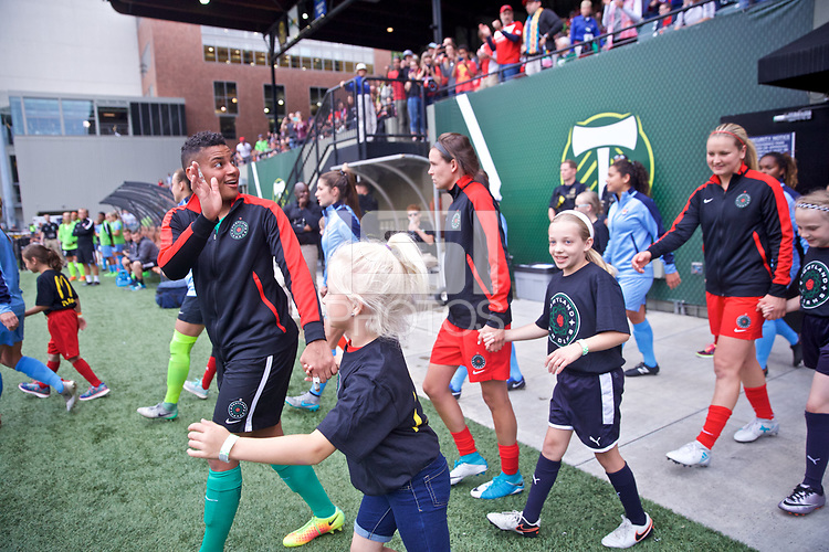 Portland, OR - Saturday June 17, 2017: Adrianna Franch during a regular season National Women's Soccer League (NWSL) match between the Portland Thorns FC and Sky Blue FC at Providence Park.