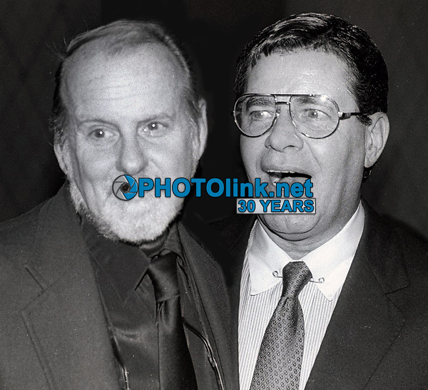 Bob Fosse and Jerry Lewis 1986<br /> Photo By John Barrett/PHOTOlink