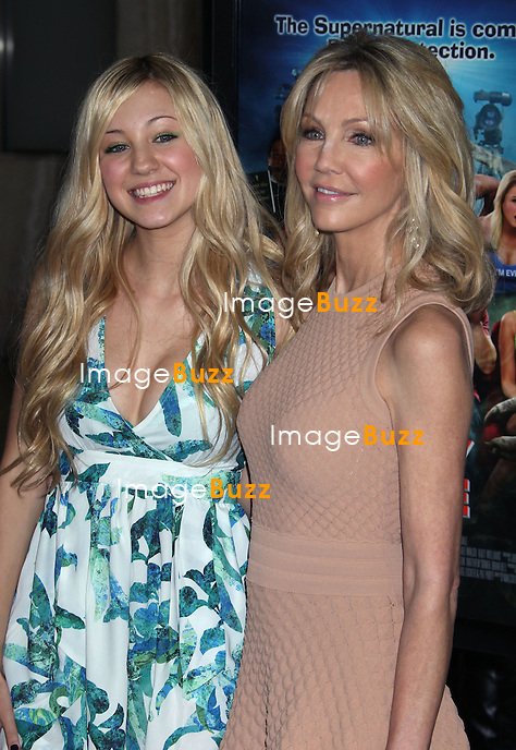 Heather Locklear & daughter Ava Sambora arrive at the 'Scary Movie V' - Los Angeles Premiere at ArcLight Cinemas Cinerama Dome on April 11, 2013 in Hollywood, California