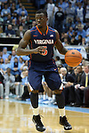 16 February 2013: Virginia's Teven Jones. The University of North Carolina Tar Heels played the University of Virginia Cavaliers at the Dean E. Smith Center in Chapel Hill, North Carolina in a 2012-2013 NCAA Division I and Atlantic Coast Conference men's college basketball game. UNC won the game 93-81.