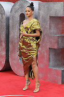 NON EXCLUSIVE PICTURE: MATRIXPICTURES.CO.UK<br /> PLEASE CREDIT ALL USES<br /> <br /> WORLD RIGHTS<br /> <br /> Barbadian singer Rihanna attends the European Premiere of Ocean's 8 at Cineworld on Leicester Square in London.<br /> <br /> JUNE 13th 2018<br /> <br /> REF: MES 182213 _<br />