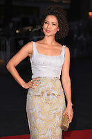 "Gugu Mbathe-Raw<br /> at the London Film Festival premiere for ""A United Kingdom"" at the Odeon Leicester Square, London.<br /> <br /> <br /> ©Ash Knotek  D3160  05/10/2016"
