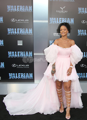 HOLLYWOOD, CA - JULY 17: Rihanna at the Valerian And The City Of A Thousand Planets World Premiere at the TCL Chinese Theater in Hollywood, California on July 17, 2017. Credit: Faye Sadou/MediaPunch