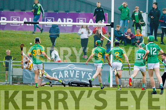 Padraig Boyle Ballyduff scores a goal against  Lixnaw in the Senior County Hurling Final in Austin Stack Park on Sunday